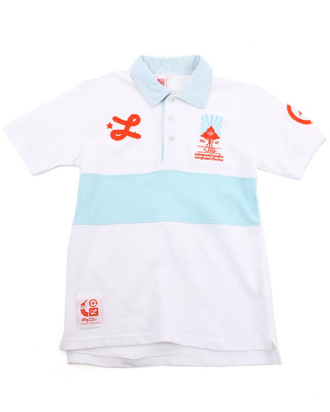 LRG Boys White Down From Earth Polo (2T-4T)