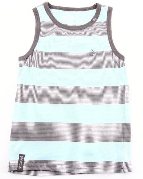 LRG Boys Light Blue Striped Tank Top (8-20)