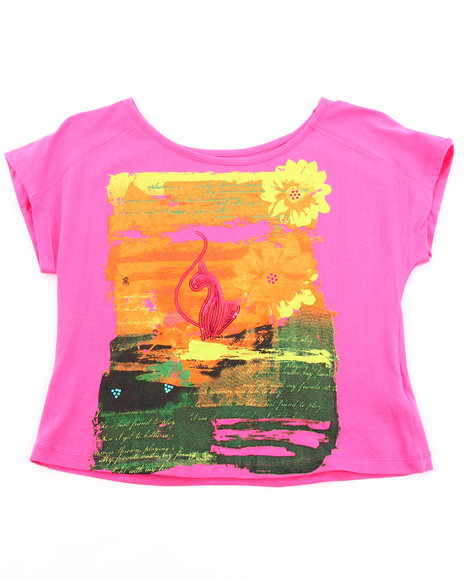 Baby Phat Girls Pink Sunset Graphic Top (7-16)