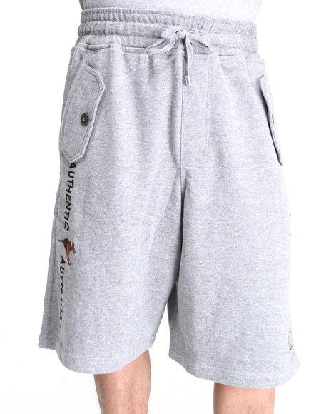 COOGI Men Grey Lavish Side Logo Print Shorts