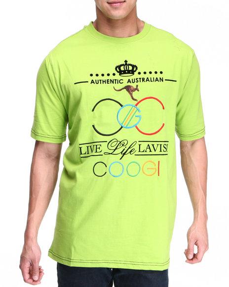 COOGI Men Lime Green Lavish Live Lavish Tee