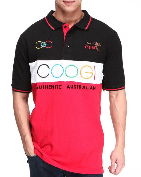 COOGI Men Black,Red Lavish Coogi Emb Polo