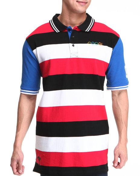 COOGI Men Red Lavish Striped Yaht Polo