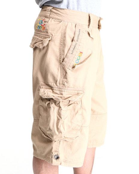 COOGI Men Khaki Lavish Cargo Shorts