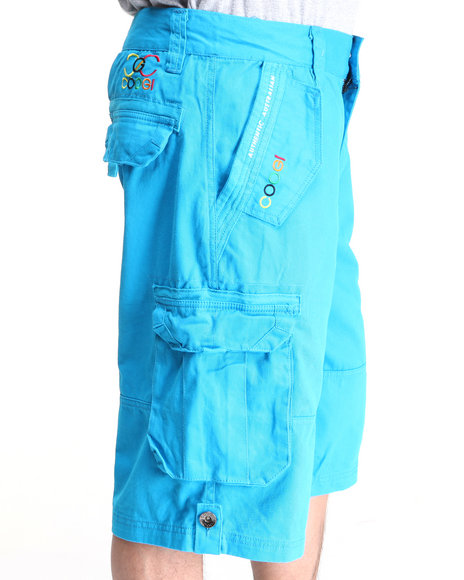COOGI Men Blue Lavish Cargo Shorts