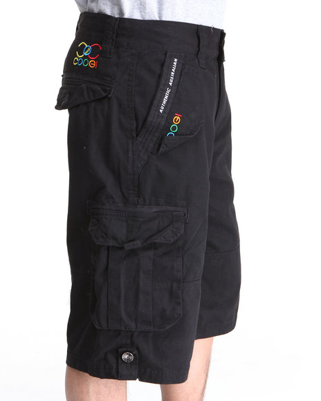 COOGI Men Black Lavish Cargo Shorts