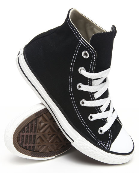 Converse - Boys Black Chuck Taylor All Star Hi (11-3) - $30.99