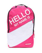 Sprayground - Hello My Name is Pink Backpack