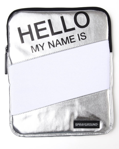 hello metallic ipad sleeve