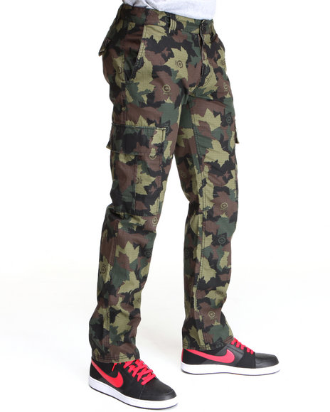 LRG Men Camo Core Collection True - Straight Cargo Pants