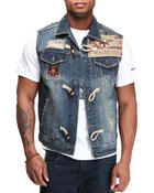 Vests - Patriot Maine Wash  Denim Vest