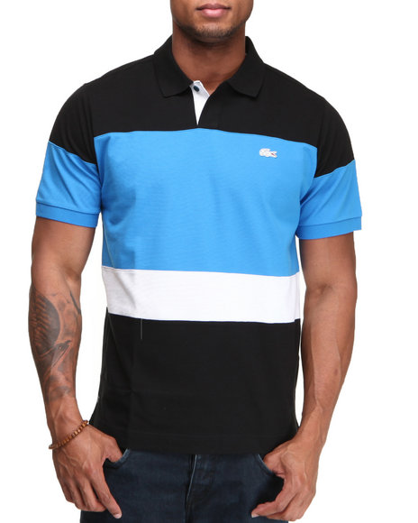 Lacoste Men Blue S/S Super Light Colorblock Polo