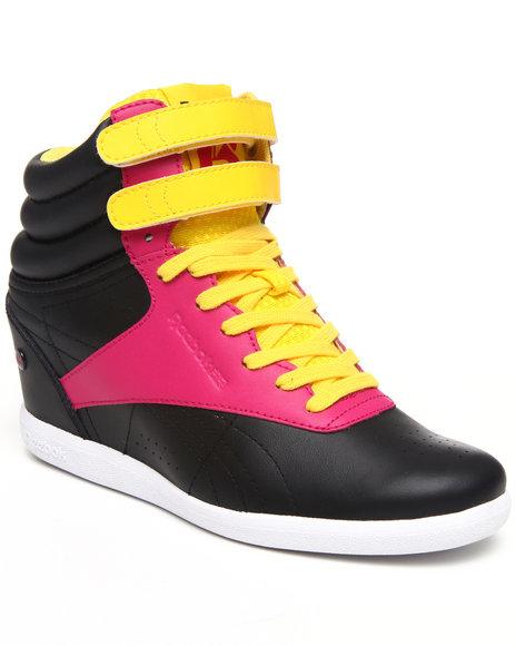 Reebok Women Black Alicia Keys Freestyle Wedge Limited Edition Sneakers