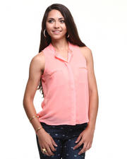 DJP Boutique - Holly Chiffon Sleeveless top w/beads