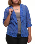Outerwear - Blair Crochet Blazer (Plus)