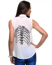 Tops - Skeleton Chiffon Tank