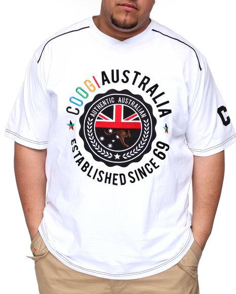 COOGI Men White Established In Lavish V-Neck Tee (B&T)