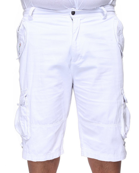 COOGI Men White Lavish Cargo Shorts (B & T)
