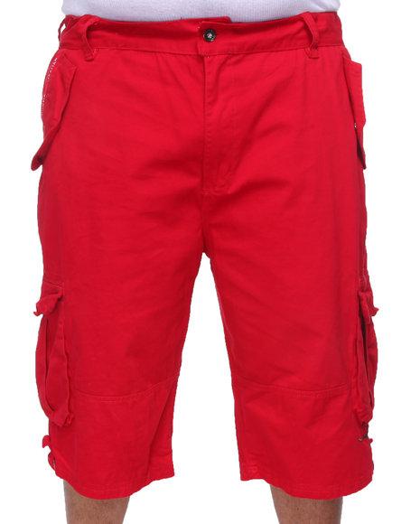 COOGI Men Red Lavish Cargo Shorts (B&T)