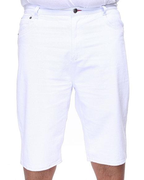 COOGI Men White Lavish Denim Shorts (B&T)