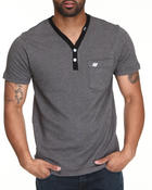 Henleys - Good Breed Y-Neck Short Sleeve Henley