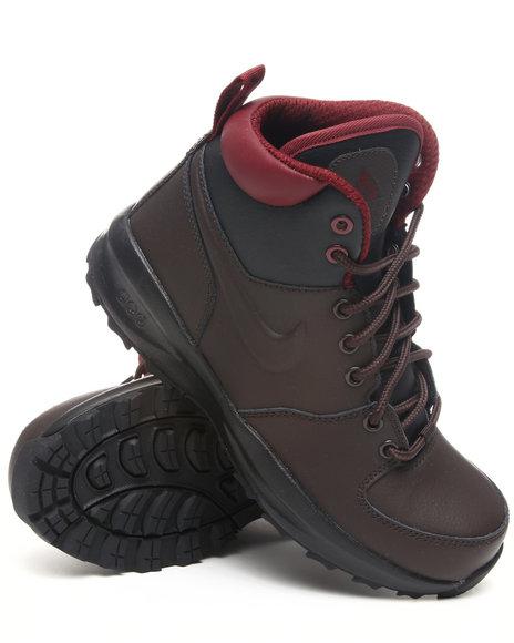 Nike Boys Black,Brown Nike Manoa Lth Boots (Grade-school Kids)
