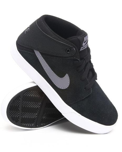 Nike Boys Black Nike Suketo Mid Sneakers (Grade-school Kids)