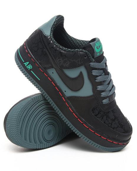 Nike Boys Black Air Force 1 (Grade-school Kids) Sneakers (Grade-school Kids)