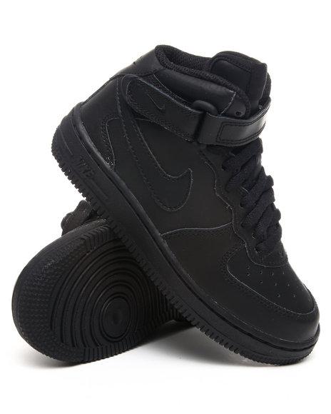 Nike Boys Black Force Mid Sneakers (Preschool kids)