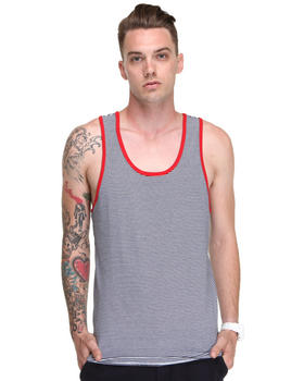 DJP OUTLET - Thin Stripe Tank Top w/ Contast Detail