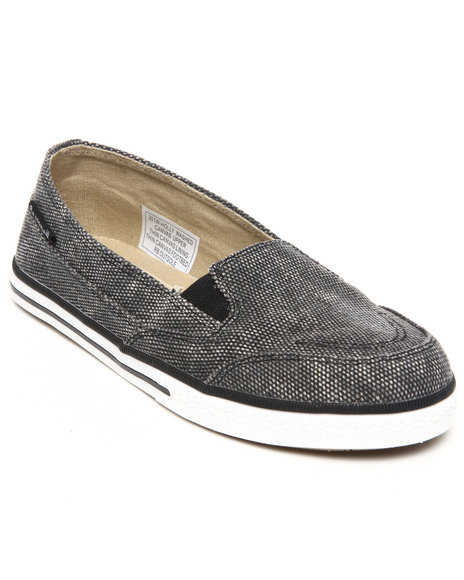 Bearpaw Black Holly Washed Canvas Sneaker