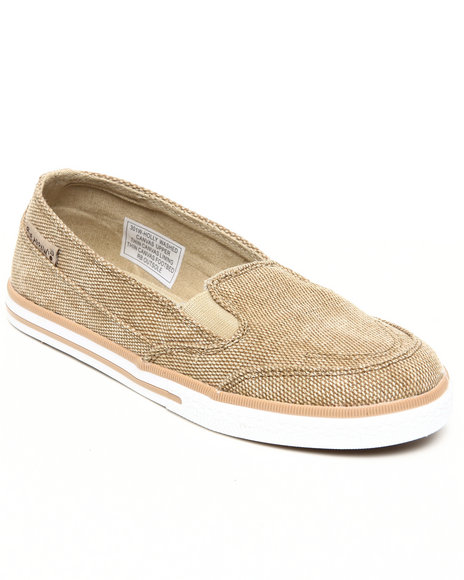 Bearpaw Tan Holly Washed Canvas Sneaker