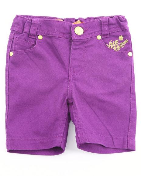 Apple Bottoms Girls Purple Bermuda Shorts (4-6X)