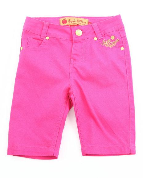Apple Bottoms Girls Pink Bermuda Shorts (7-16)
