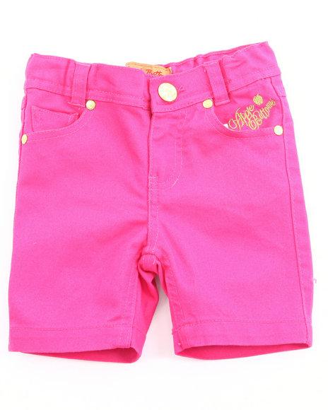 Apple Bottoms Girls Pink Bermuda Shorts (4-6X)