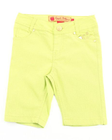 Apple Bottoms Girls Lime Green Bermuda Shorts (7-16)