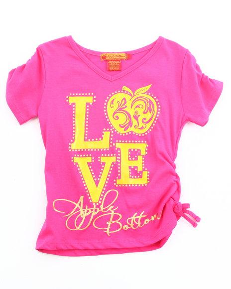 Apple Bottoms Girls Pink Love Apple Bottoms Tee (4-6X)