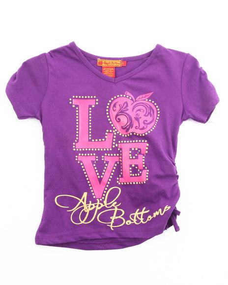 Apple Bottoms Girls Purple Love Apple Bottoms Tee (4-6X)