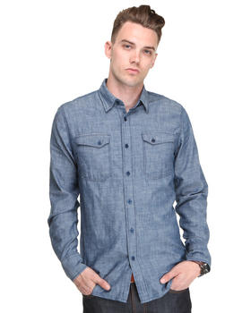 Nudie Jeans - Gunnar Organic Chambray L/S Button-down