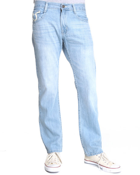 Basic Essentials Men Light Wash Trued Denim Jeans