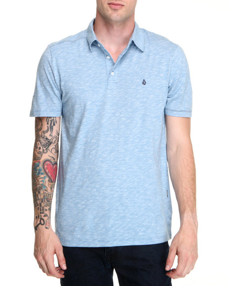 Volcom - Men Blue Blackout Mix Polo