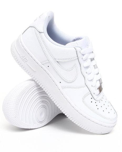 Nike Boys White Air Force 1 (Grade-school Kids)