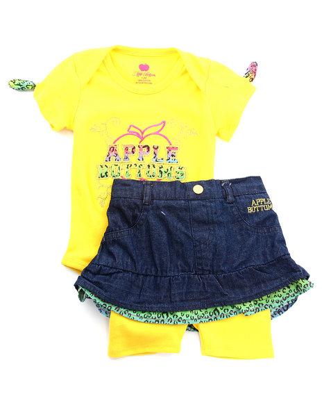 Apple Bottoms Girls Multi 2 Pc Set - Bodysuit, Skirt (Infant)