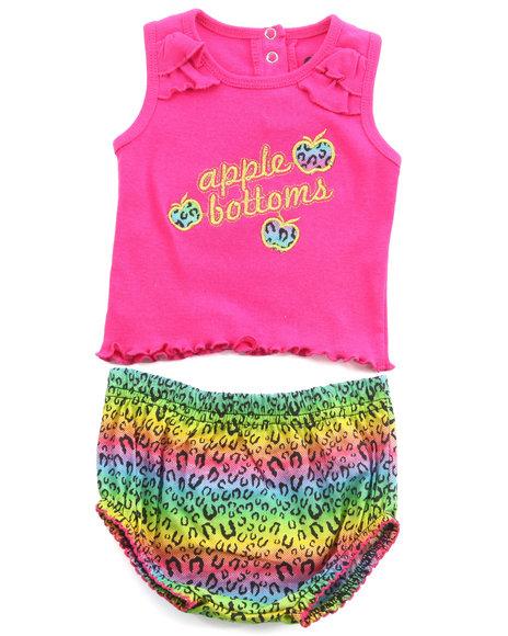Apple Bottoms Girls Multi 2 Pc Set - Tank & Printed Shorts (Newborn)