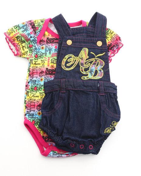 Apple Bottoms Girls Multi 2 Pc Set - Overalls & Bodysuit (Infant)