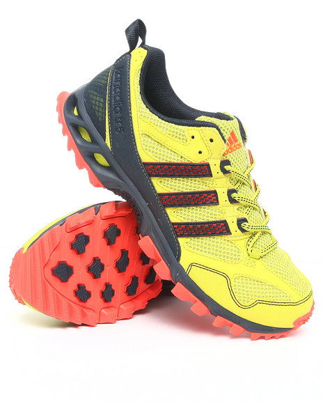 Adidas Men Yellow Kanadia 5 Tr Trail Running Sneakers