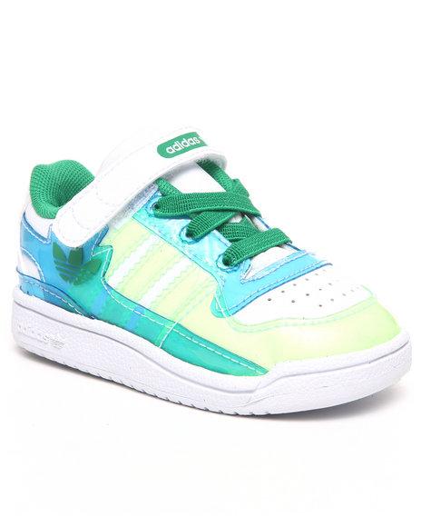 Adidas Boys White Forum Lo Xl Sneakers Infants