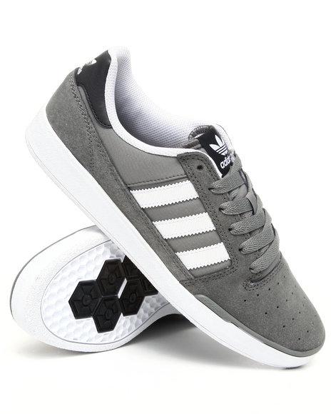 Adidas Men Grey Pitch Suede Sneakers
