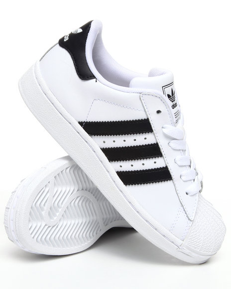 Adidas Boys White Superstar 2 Sneakers
