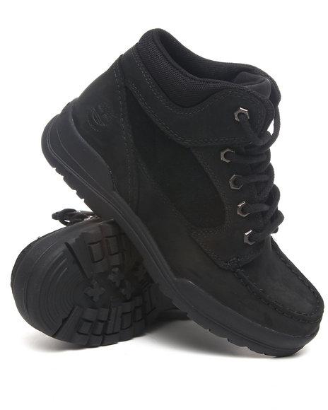 Timberland Boys Black Earthkeepers Trekker Waterproof Moc Toe Chukka Boots
